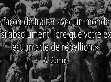 De la révolte…